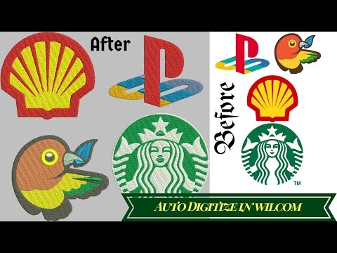 Auto Digitize any image in to embroidery file-embroidery digitizing