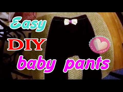 very easy baby pants (no need pattern) sew for beginner