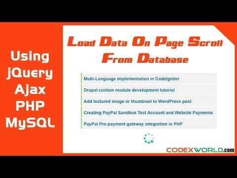 Load Data on Page Scroll from MySQL Database using jQuery Ajax PHP