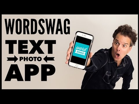 WordSwag App Tutorial - Text On Photo App For iPhone or iPad - Word Swag App 2016