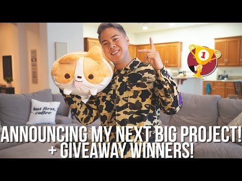 ANNOUNCING MY NEXT BIG PROJECT! + GIVEAWAY WINNERS!