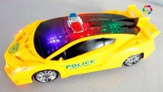 #x202b;لعبة سيارة شرطة حقيقية صفراء للاطفال العاب البوليس بنات واولاد Real Flashing Police Car Toy Game#x202c;lrm;