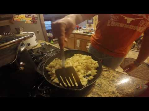 How-to cook pan fried potatoes, quick and easy