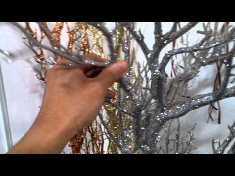 Large Jumbo Shatterproof Glitter Manzanita Twig Tree Branch Decorative Wedding