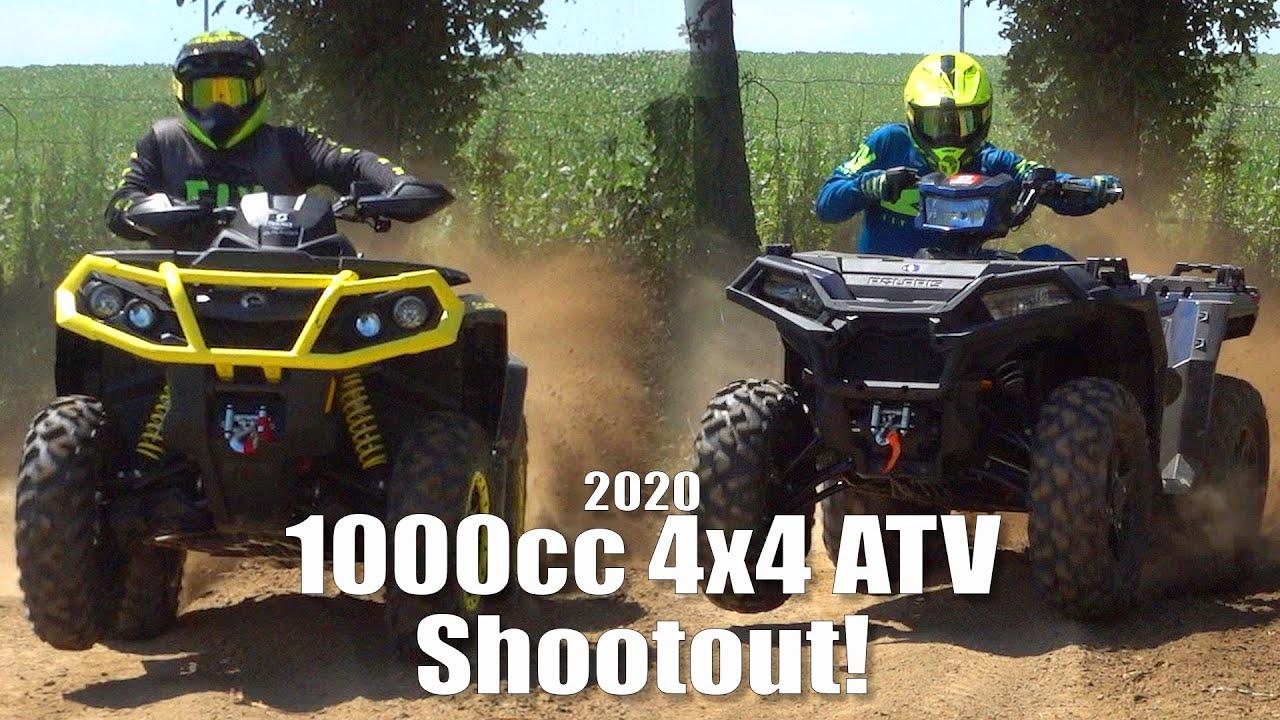 Polaris Sportsman XP 1000 VS Can-Am Outlander 1000R XT-P, 1000cc 4x4 ATV Shootout