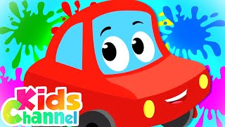 Color Song | Little Red Car Cartoon Videos for Children | Learning Rhymes from Kids Channel