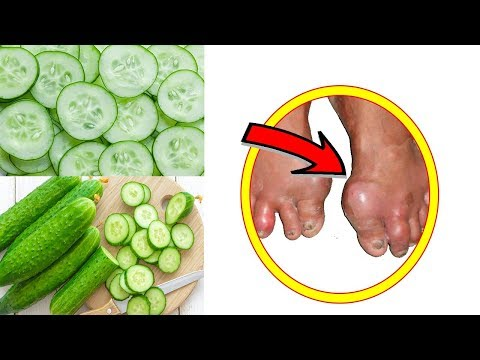 Gout Treatment  Cure Gout With Natural Remedies Cucumber│ Strong Health 9999