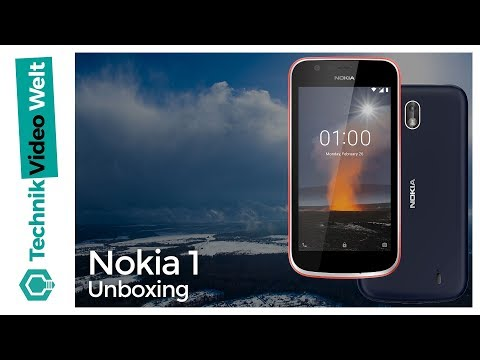 Nokia 1 Unboxing Deutsch