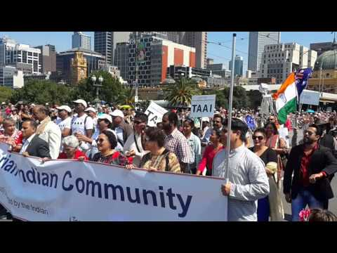 Indian community participates in the Australia Day Parade in Melbourne.