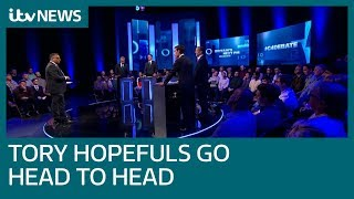 Tory candidates face each other in first televised debate | ITV News