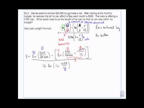 Financial Algebra: Loan Length and Monthly Payment Formula  2-25-14