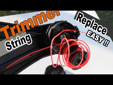 How to replace string trimmer line - Echo SRM 225 Speed Feed head