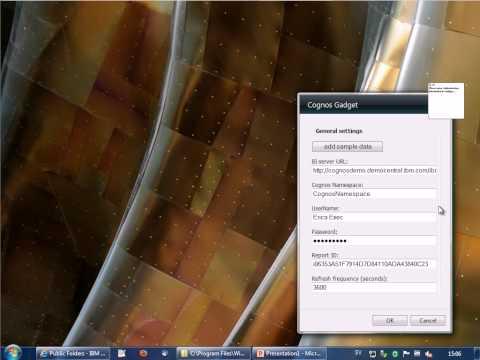Cognos Business Intelligence as Windows Gadgets (swedish)