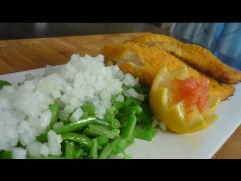 Country Style Catfish with Green Beans and Sweet Onions