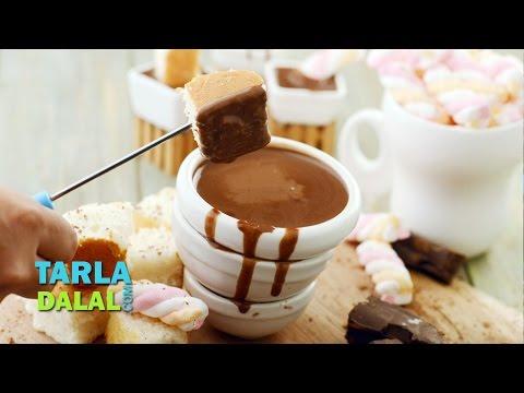 क्लासिक चॉकलेट  फ़न्ड्यू  (Classic chocolate fondue) by Tarla Dalal