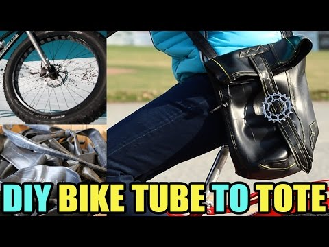 From Old Bike Tubes to Bad@$$ Bags!