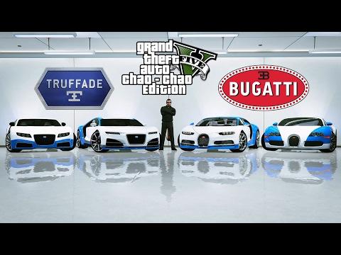GTA 5 - Что быстрее? Bugatti Chiron, Bugatti Veyron, Truffade Nero, Truffade Adder