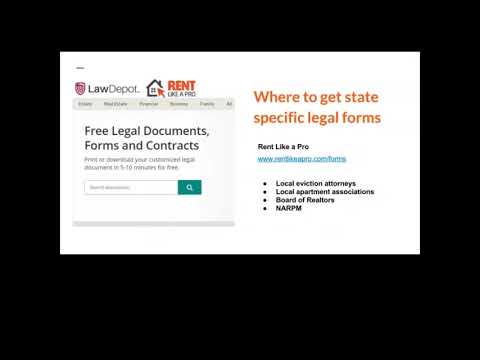 Where to find good state specific lease and eviction forms   Rent Like a Pro
