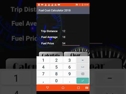 Fuel Cost Calculator 2018
