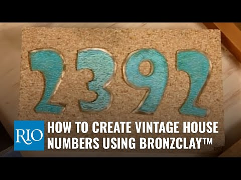 How To Create Vintage House Numbers Using Bronze Clay