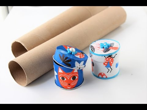 Gift box/jewelry box out of empty paper rolls/Best out of waste/Decoupage gift boxes