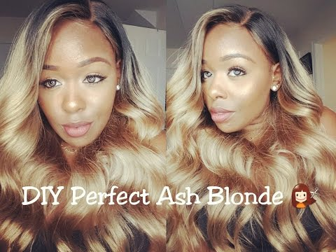 How to Slay your Wig |DIY Ash Blonde Hair| ft. Premierlacewigs.com