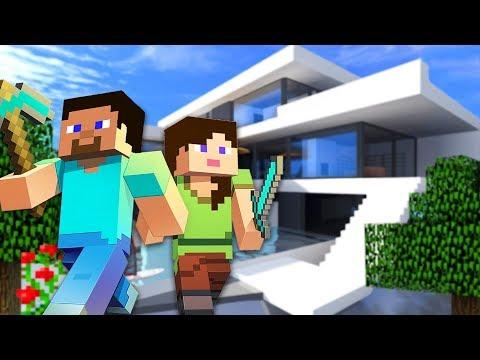 BUILDING OUR NEW HOUSE!! - MINECRAFT w/ MY BOYFRIEND