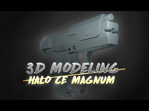 3D Modeling the Halo CE Magnum in Blender [Download]
