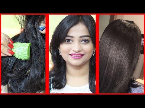 NATURAL Straight Hair at Home with Aloe Vera/ ** Aloe Vera Trick **/ Natural Hair Straightening Gel