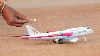 Rocket Vs Airplane   Indian Crackers Experiment   Whatanidea