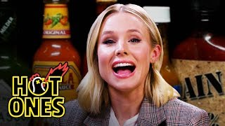 Download Kristen Bell Ponders Morality While Eating Spicy Wings | Hot Ones Video