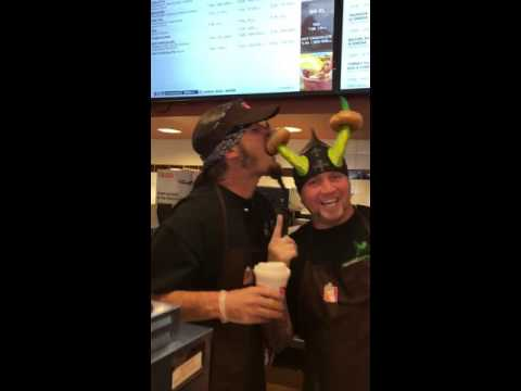 Horny Mike and Ryan Evans work Dunkin Donuts for Charity
