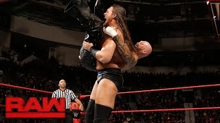 Big Cass vs. Luke Gallows: Raw, Feb. 27, 2017