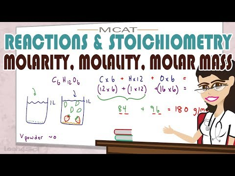 Molarity Molality and Molar Mass for MCAT General Chemistry