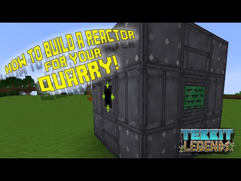 How to Build A Reactor for your Quarry | Tekkit Legends