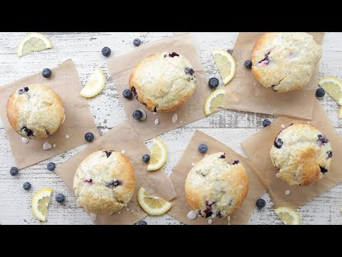 Lemon Blueberry Muffin Recipe with Chia Seeds