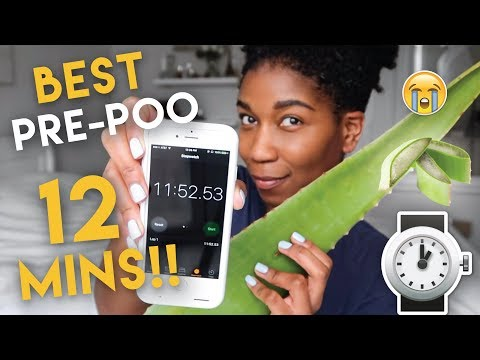 The 12 MINUTE Aloe Vera PRE POO!! Best For Natural Hair