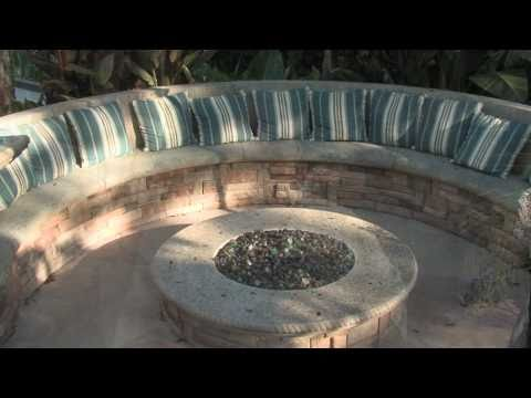 Gas Fire Pit - Seating & Misting System