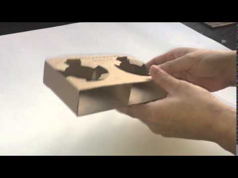 Cardboard coffee cup tray for coffee lovers