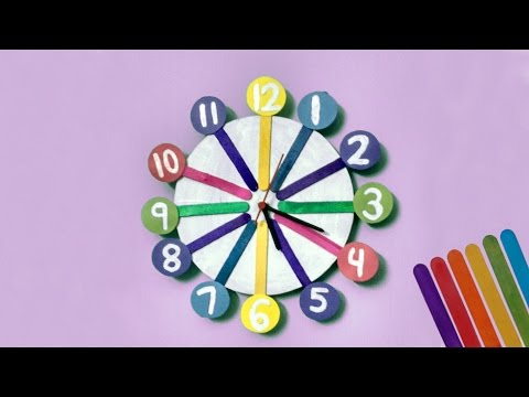 How to create Clock for your kids room | Crafts Videos for Kids | Jugnu Kids