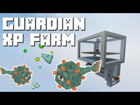 Minecraft: Guardian Farm with Spawner [Works in 1.11]