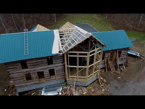 Historic Cabins rebuild Dec 22 2017 Progress for Kevin Frye