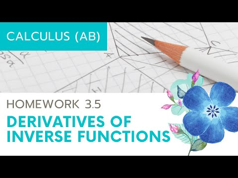 Calculus AB Homework 3.6 Derivatives of Inverses
