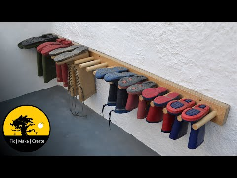 How to make a boot rack.