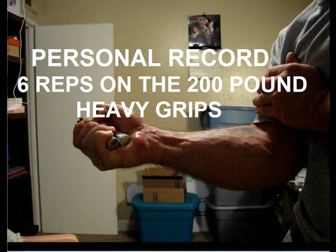 6 Solid Reps on a Heavy Grips 200 Pound Hand Gripper, PR