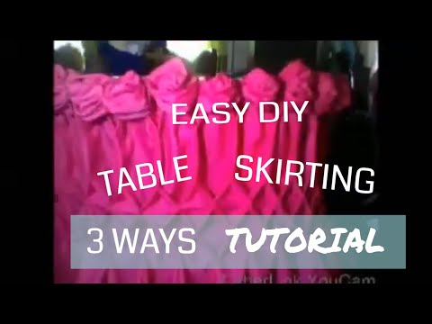 How to do Basic Diamond and Scalloped Table Skirting/ 3 ways / Beginners Tutorials / GraceVi