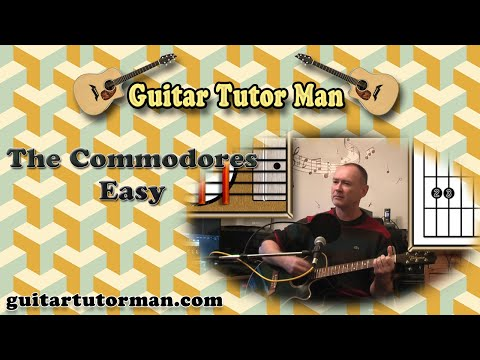 Easy - The Commodores - Acoustic Guitar Lesson