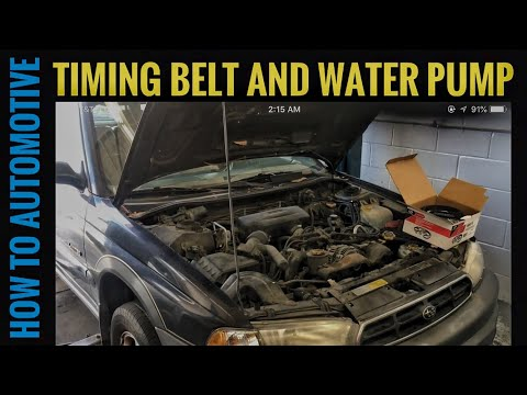 How to Replace the Timing Belt and Water Pump on a 1998 Subaru Outback with 2.5 L DOHC Engine