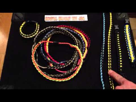 Paracord necklace Product review of survival necklace and demonstration of  safety buckle