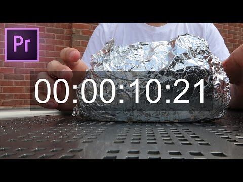 Adobe Premiere Pro CC Tutorial: How to add a Timecode Stamp or Timer to your footage